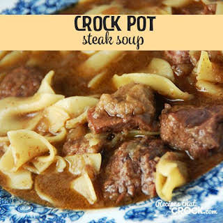 Crock Pot Steak Soup.