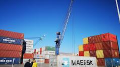 Espectacular aumento del tráfico de contenedores en Almería