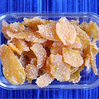 Homemade Crystallized Ginger.