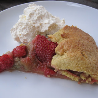 Rustic Rhubarb and Strawberry Tart*.