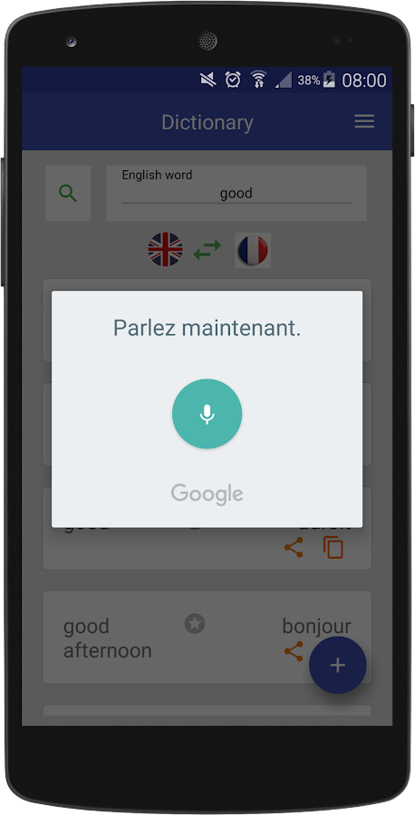 how to change google from french to english