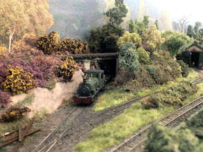 """Photo: 005 The low level line passes through a stud wall and loops back to rejoin the layout behind the transfer shed, providing a continuous run for """"testing"""" and """"letting them have their head of steam"""". 0-6-2ST """"Arne"""" makes a first appearance ."""