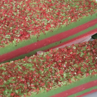 Strawberry & Peppermint Christmas Fudge