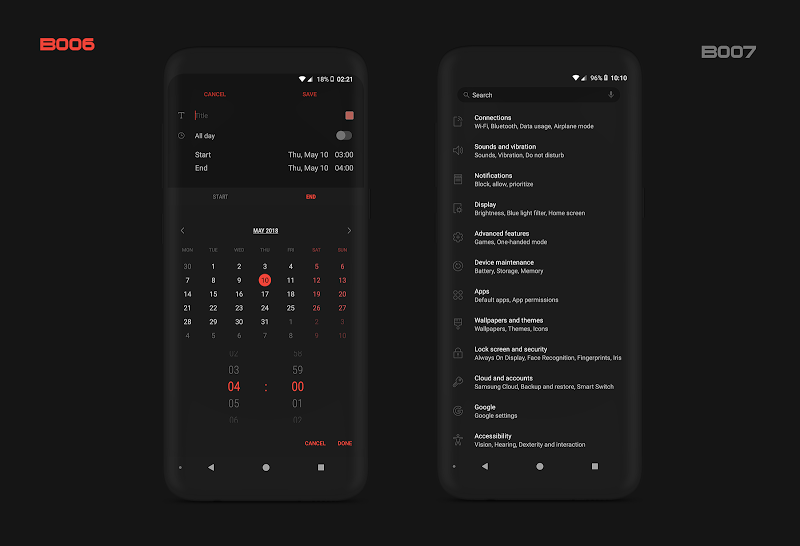 PitchBlack S╶ Samsung Substratum Theme Oreo/One Ui Screenshot 10