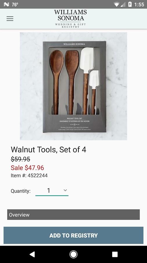 Williams-sonoma registry wedding gifts