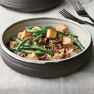 Spicy Green Bean and Tofu Stir-Fry with Ground Bison.
