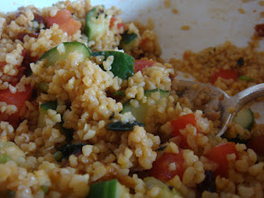 Photo: Served with a bulgur wheat, cucumber, tomato, mint and wild garlic salad. Blends with the juices from the tender lamb.