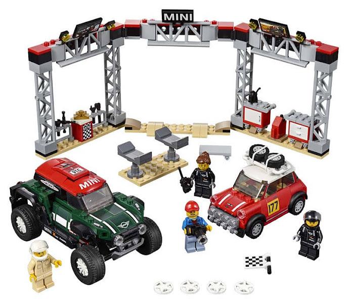 Contenido de Lego® 75894 Mini Cooper S Rally de 1967 y MINI John Cooper Works Buggy de 2018