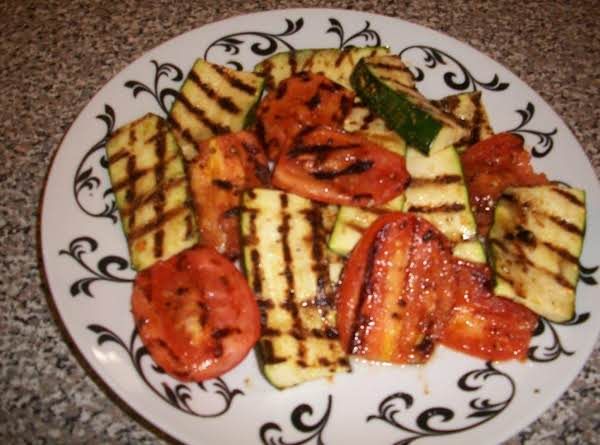 Grilled Zucchini & Tomatoes