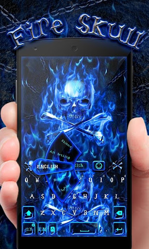 Fire Skull GO Keyboard Theme screenshot 1