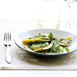 Butternut Squash Agnolotti with Fresh Herb Pesto