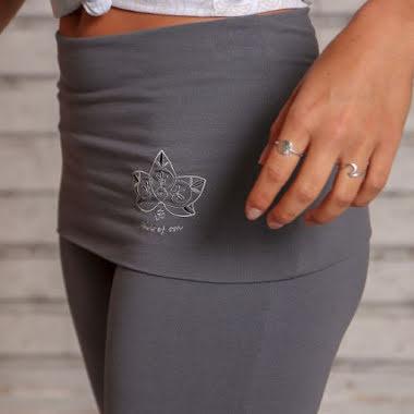 Yogapants with skirt Tourmaline grey