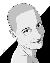"""Photo: Not Quite 366 Avatars Project 2012 To commemorate G+ favorite+Catherine Morganshaving her head for charity, I present to you this humblest of avatars. Catherine's selfless act is no doubt in the running for """"G+MomentoftheYear"""". Let us also celebrate the fact that Ms. Morgan has a smooth dome, with nary a bump or valley as far as the eye can see. Not since Ellen Ripley in Alien 3, have I seen a shaved-headed woman of such calibre. Huzzah Catherine Morgan. Huzzah!"""