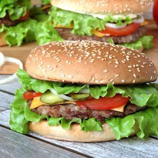 Pork Burgers With BBQ Sauce