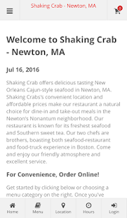 Shaking Crab - Newton, MA- screenshot thumbnail