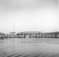 Photo: Bro ved Stige Ø mellem Odense Kanal og Odense Å sandsynligvis i 1960-rene
