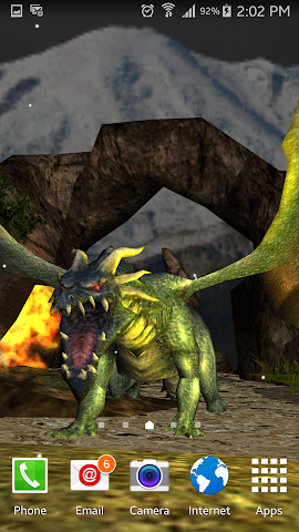 android Legendary Dragons 3D Lwp Screenshot 2
