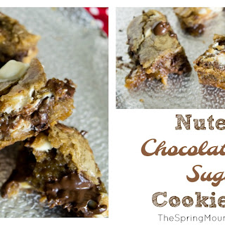Nutella Chocolate Chip Sugar Cookie Bars.