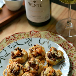 Butternut Squash and Chanterelle Puff Pastry Bites.