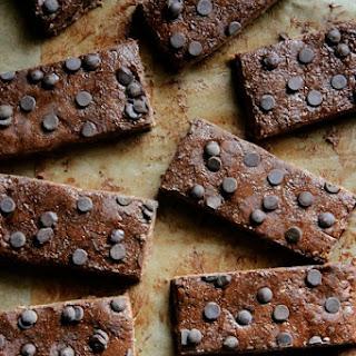 No Bake Double Chocolate Fudge Protein Bars.