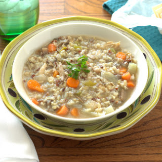 Chicken, Wild Rice, and Mushroom Soup