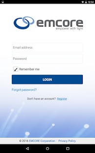 EMCORE Customer Portal App- screenshot thumbnail