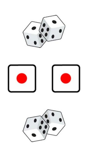 Twin Backgammon Dice