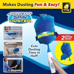 Pamatuf electric de praf, antistatic, Hurricane Spin Duster