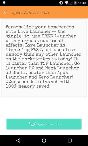 Vintage font 1- Live Launcher