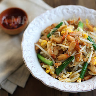 Crab Noodles Recipe (Fried Mung Bean Noodles with Crab).