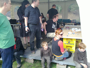 Photo: around 10% of the camp visitors were familes with children