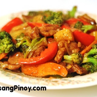 Pineapple Pork Stir Fry