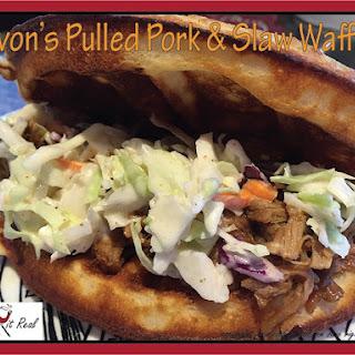 Devon's Pulled Pork and Slaw Waffles