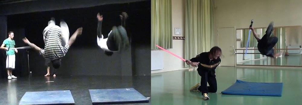 Chorégraphe de combat mixte : acrobatie, escrime artistique, sabre laser et cascade physique. Régleur cascades : Alexis DIENNA. Escrime Cascade : https://www.escrimecascade.com/