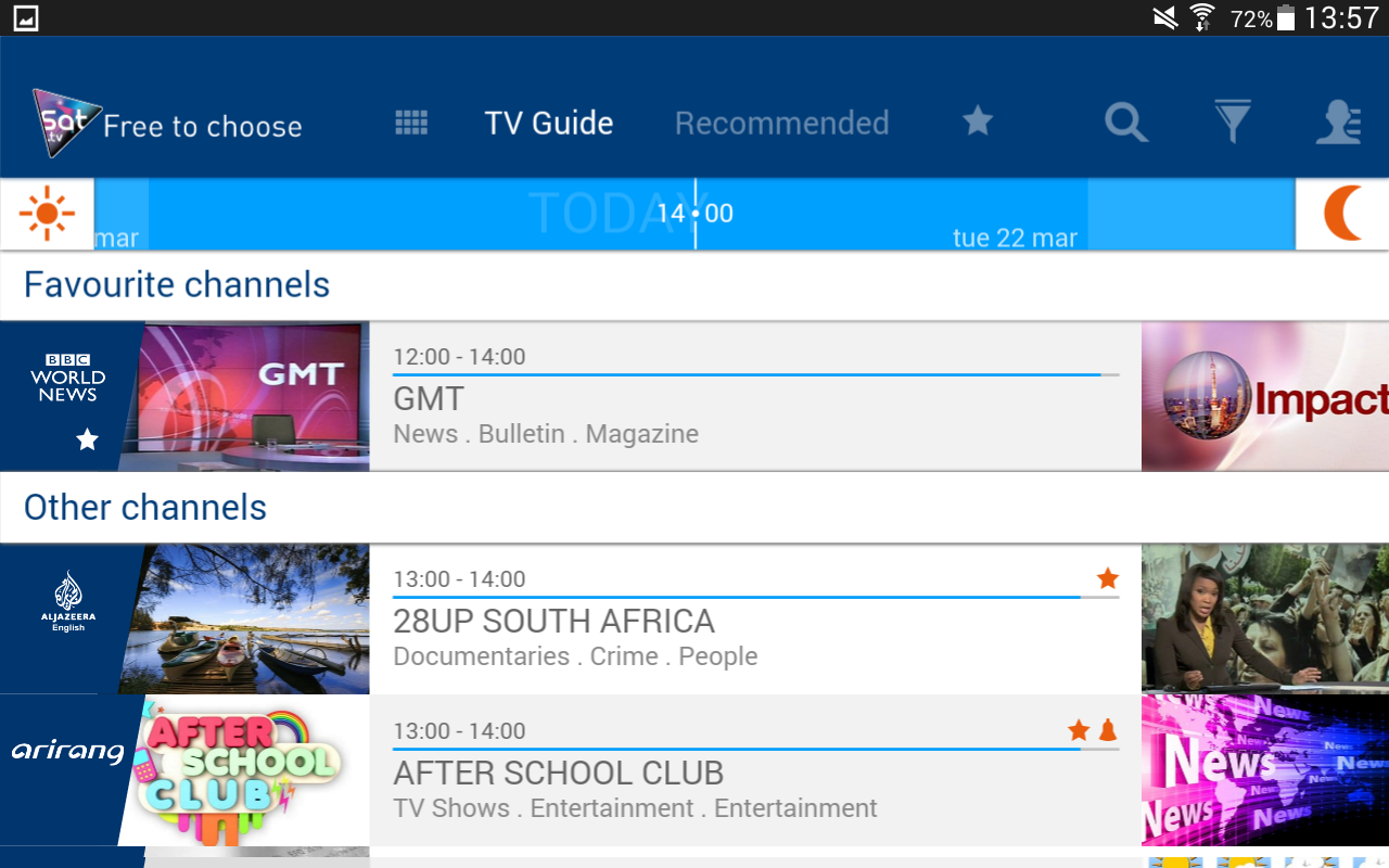 Eutelsat Free-to-air TV guide- screenshot