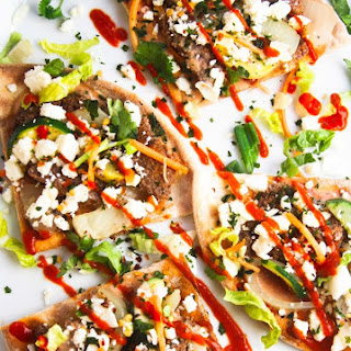 Gluten Free Steak Salad Flatbread