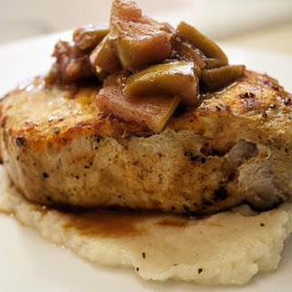 Pan Roasted Pork Steaks with Apple/Muscadine/Grape Reduction