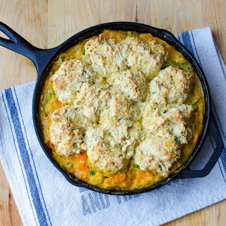 Root Vegetable Skillet with Scallion Biscuits Recipe