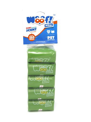accesorio para mascotas woof bolsas de desechos caninos x60