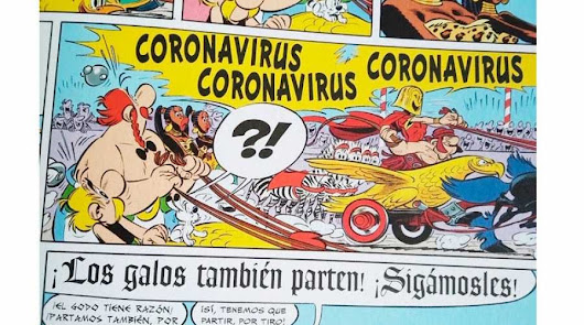 El coronavirus ya estaba en una historia de Astérix y Obélix