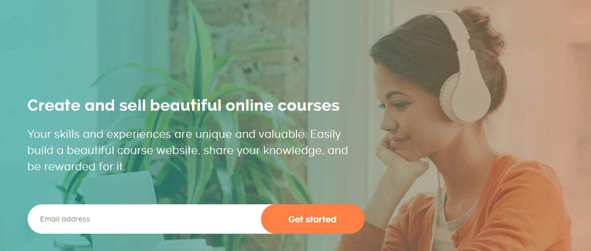 Teachable's landing page