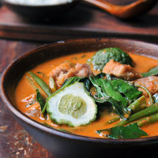 Red Curry with Pork Belly and Water Spinach | Gang Tay Po | แกงเทโพ Recipe