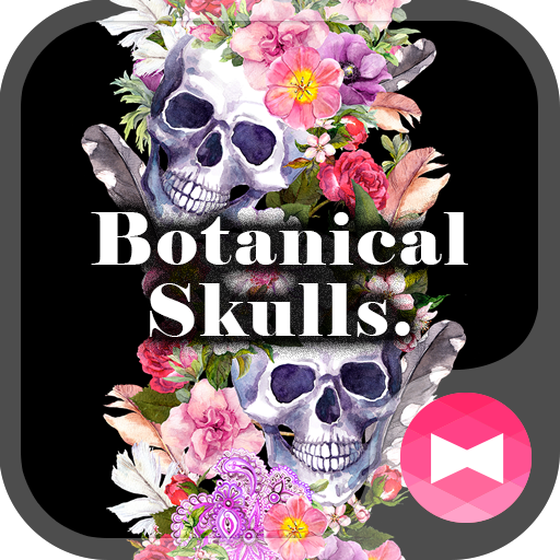 Cool Wallpaper Botanical Skulls. Theme Icon