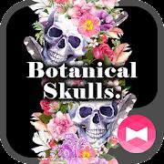 Cool Wallpaper Botanical Skulls. Theme