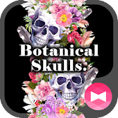 Cool Wallpaper Botanical Skulls. Theme
