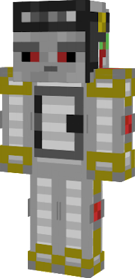 A golem with a redstone brain, iron body, observer face, and redstone heart.