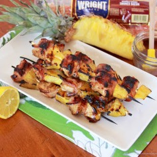 Bacon Wrapped Chicken Pineapple Skewers