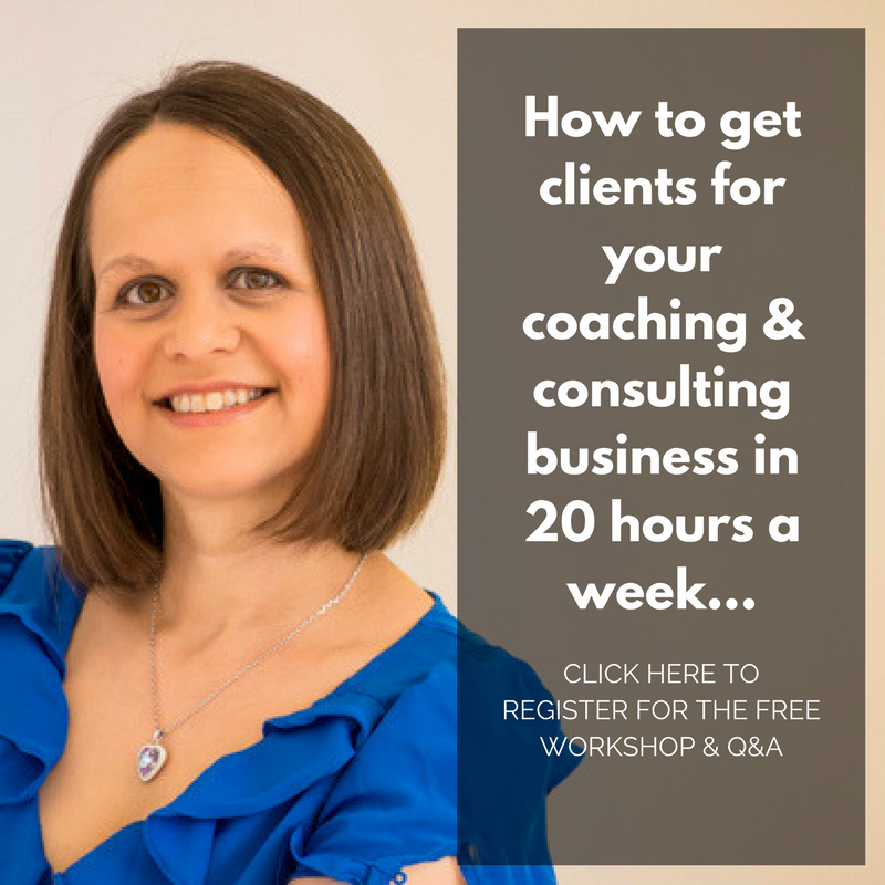 Free Training: How to get clients for your coaching and consulting business in 20 hours a week!