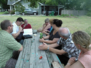 Photo: Garden meeting 6/2/13 - planning our next moves, and our July party!