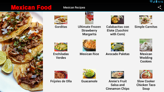Mexican food recipes apps on google play screenshot image forumfinder Gallery